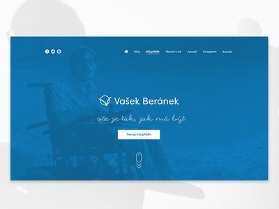 Website for handicapped man Vasek Beranek