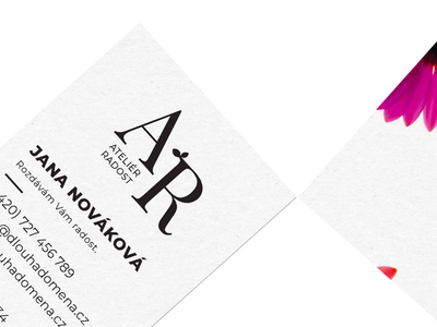 Business card for florist's