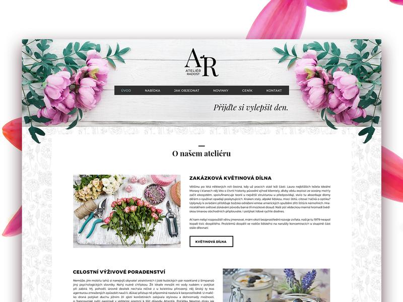 Webdesign for florist's modern minimal flower florist clean brand identity webdesign