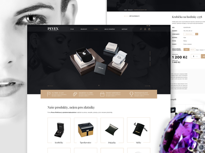 The Luxury e-shop with a boxes for jewelery