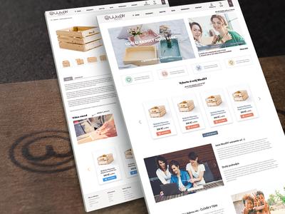 E-shop with a wood DIY boxes