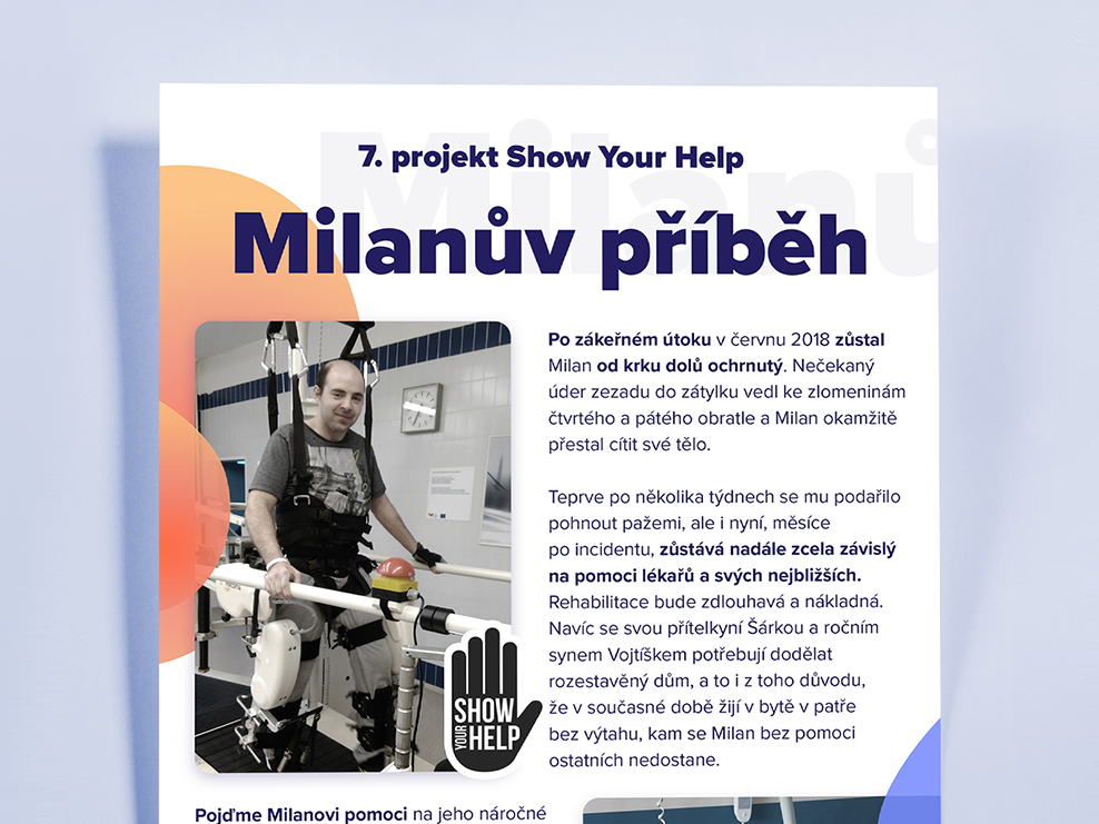 Help for Milan in the difficult situation showyourhelp foundation help flyer