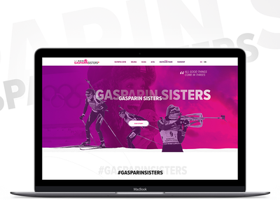 Biathlon team: Gasparin sister from Switzerland official website snow ski mobile responsive website webdesign swiss switzerland sport winter olympic biathlon