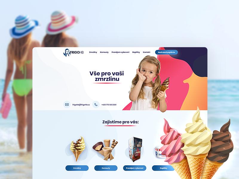All for your ice cream - Webdesign summer ice cream cool fresh brand ui webdesign