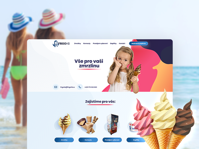All for your ice cream - Webdesign summer ice cream cool fresh brand ui webdesign