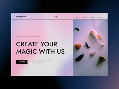 Design Magical Store Header astrology magic web design webdesign header website ui