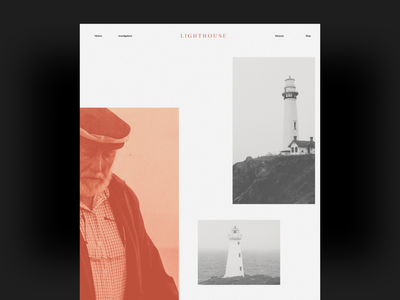 Lighthouse Museum Website Design limited color lighthouse minimal webdesig layout minimal design