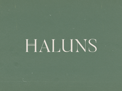 Haluns Logotype Design typography identity idea trend inspiration logo design clean logo minimalist logo fashion brand fashion fashion boutique minimal branding logo design