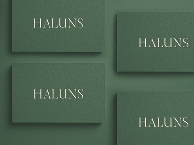 Haluns Logotype Business Card business card design business card eco logo natural logo green minimalist minimalist logo fashion boutique inspiration logo design branding logo