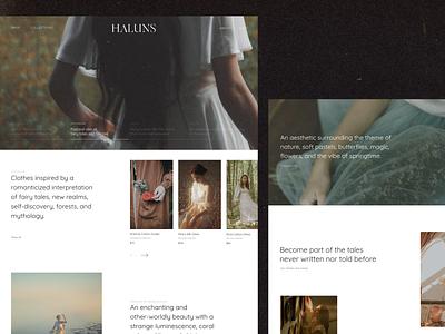 Fashion Brand Website typography design ux ui branding fashion web fashion website design webdesign