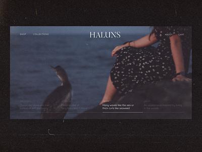 Fashion Brand Website fashion website shop design fashion brand website webdesign ux ui branding