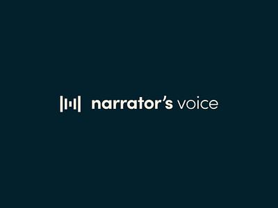 Narrator's Voice Brand Identity branding concept branding design limited palette simple logo storytelling podcast minimal typography branding logo design