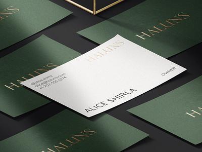Haluns — Branding visual design fashion green brand identity visual identity typography logo branding design