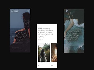 Fashion Brand Website mobile shop design fashion shop fashion brand web design mobile ui ux branding