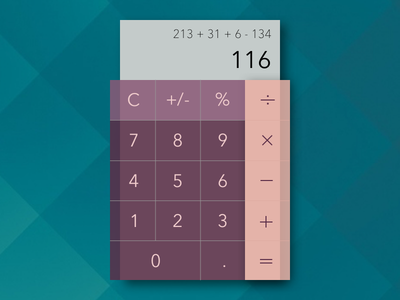 Calculator - #004 calculator 004 dailyui