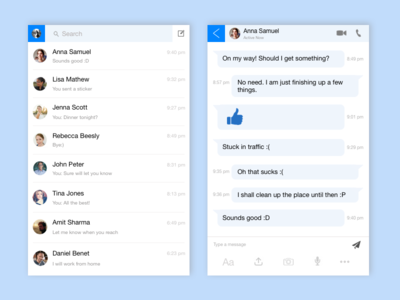 Direct Messaging | DailyUI #013