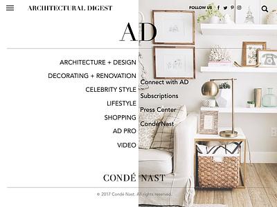 Condé Nast  - Architectural Digest UI  ad ux ui condénast