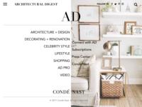 Condé Nast  - Architectural Digest UI