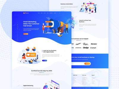 Digital Marketing Agency Landing Page ui ux digitalmarketing design professional corporate branding webinterface web uiux ui