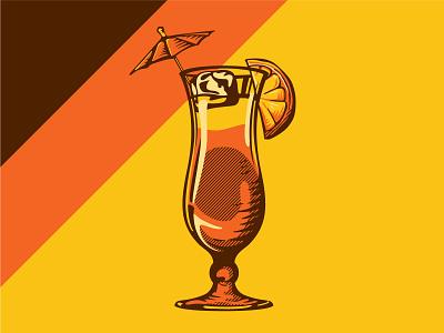 Magnum Mai Tai! event magnum fun illustration glass event branding event design drink
