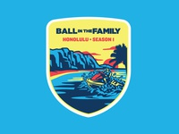 5098611f0 Ball In The Family Adventure Badge - 01 Hawaii