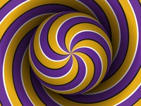 Spiral pattern illusion