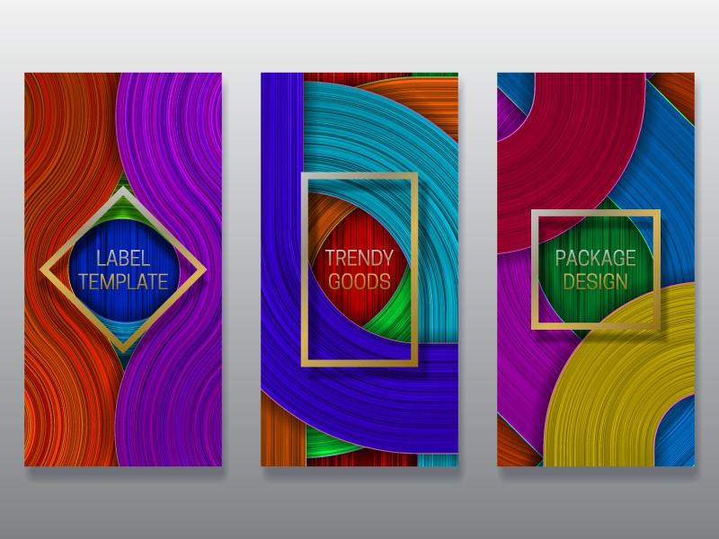 Colorful packaging design design cover template card banner label dynamic background packaging colorful saturated frame