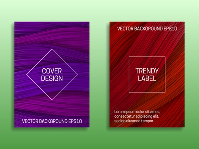 Cover templates in purple and red shades