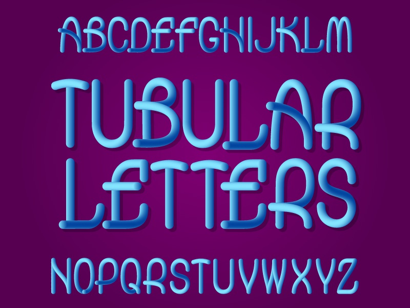 Plastic alphabet blended plastic lettering typeface gradient typeset design type vector letters font alphabet