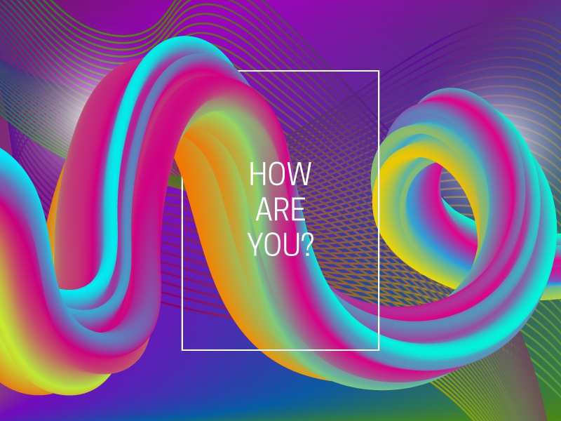 How are you? futuristic graphic wallpaper iridescent gradient design abstract background liquid vibrant backdrop chaotic