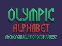 Olympic 3D alphabet