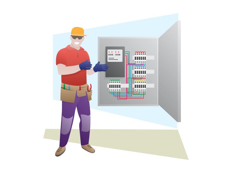 Electrician profession characterdesign digitaldrawing character design cartoonpeople graphicdesign illustration illustrator people cartoon character electrician