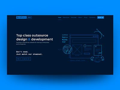 WordPress Website Development Outsourcing Studio typography vector minimal icon illustration ux design web website ui