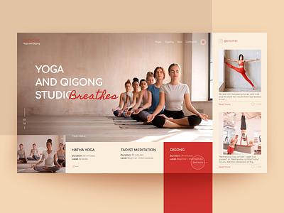 Yoga and Qigong Studio Breathe. web design minimal ux design web website ui