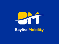 bayliss mobility logo in blue bg