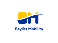 bayliss mobility logo design in white bg