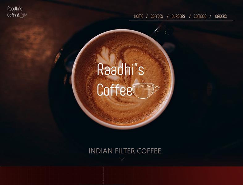 cofee ui layout