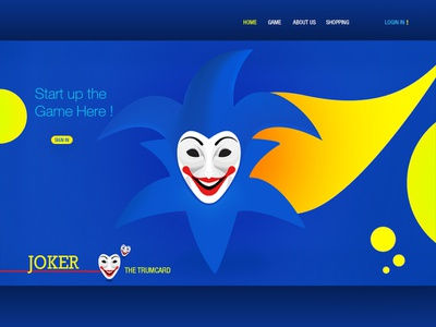 Joker_website design ui website adobe photoshop illustraion