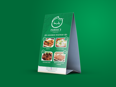 Table Tent Menu Design ads design creativeart social media design amazing design creativeagency branding