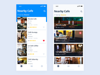 Nearby Cafe app concepts