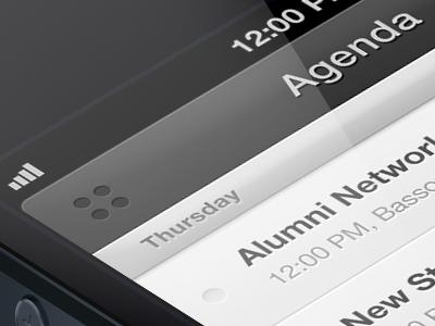 Agenda View app ios iphone minimal ui