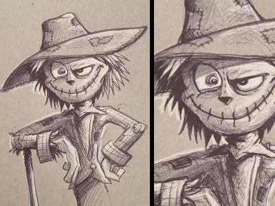 Inktober Scarecrow inktober sketch dailies scarecrow doodle halloween