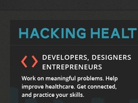 Hacking Health website