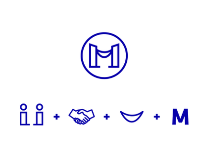 MedLex - mediation law minimal flat logotype logo icon design concept branding brand art