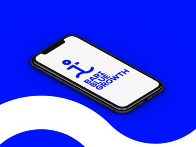 Bari Blue Growth Branding Mockup typography mobile ios app flat wordmark minimal illustrator vector logotype logo illustration identity icon design concept branding brand artwork art