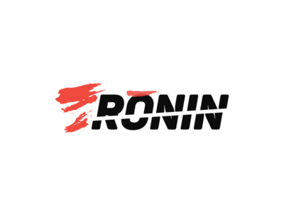 RONIN typography type flat brand identity wordmark visual minimal illustrator vector logotype logo illustration identity icon design concept branding brand artwork art