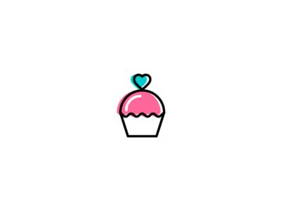 Cake Design Lovers brand identity type wordmark visual minimal illustrator flat vector typography logotype logo illustration identity icon design concept branding brand artwork art