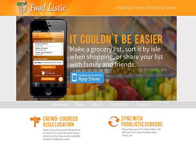 Foodlistic App Website app promotion app website website