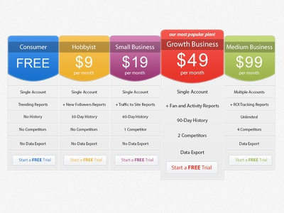 Pricing Table pricing table