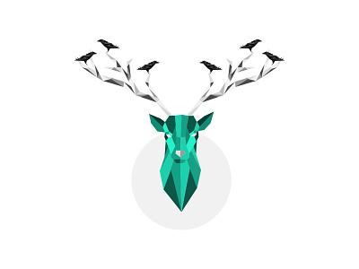 Deer graphicdesign vector sketch crows webdesign designe illustration deer